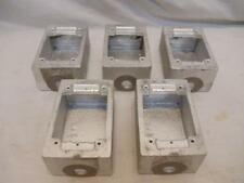 "LOT of 5 Pyle National F-30-FS 1/2"" Malleable Cast Iron Electrical Box Enclosure"