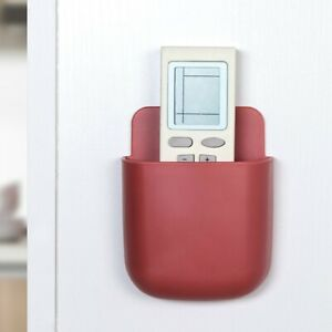 Punch-free Universal Wall Mounted Storage Box Remote Control Holder Phone Rack-