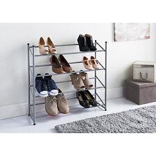 Facilità di montaggio 4 livelli scarpiera contiene fino a 12 paia di scarpe-W75 x H71 x D24cm