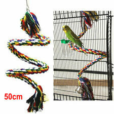 New listing Bird Parrot Chewing Toy Large Cotton Triangle Perches Cage Swing Rope Climbing