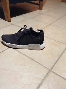 brown and white adidas nmd R1