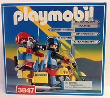 Playmobil 3847 Television Camera Crew / Motorcycles - Vintage / Collector - NEW