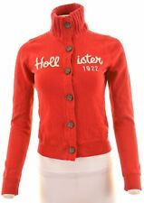 HOLLISTER Womens Cardigan Sweater Size 10 Small Red Cotton  CO05