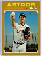 Justin Verlander 2020 Topps Heritage 5x7 Gold #473 /10 Astros