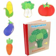 Educational Learning Book Puzzle Toy for Toddlers Baby Kids. - Vegetables