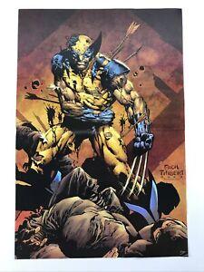"Wolverine Poster 10.5""x15.5"" Logan Beat Up Taking Arrows by Finch Thibert"