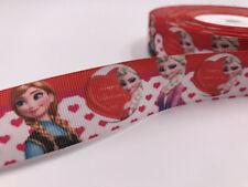 Diy 5 Yard 1'' 25Mm Anna & Aisha Printed Grosgrain Ribbon Hair Bow Sewing Ribbon