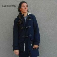 ZARA WOOL MIX NAVY BLUE DUFFLE COAT SIZE SMALL (B1) REF: 2723 225
