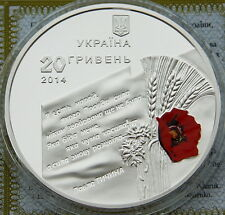 Ukraine 20 UAH 2014 RARE sUNC 2 OZ Silver COA Liberation from Fascist Invaders