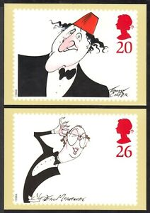 ROYAL MAIL STAMP CARD SERIES #PHQ-197-a,b,c,d,e 1998 COMEDIANS SET/5, UNUSED