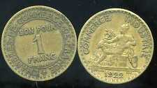 FRANCE  FRANCIA   1 franc 1922   CHAMBRE DE COMMERCE