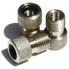 ALLOY Valve Stem Adapters - converts adapts Presta to Schrader valve - Set of 2