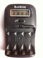 UNiROSS LCD 1-2 HOUR Battery CHARGER  for AA/AAA Rechargeable Batteries