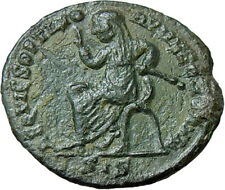 Maximian AE AE 317-318 AD. struck under Constantine I Authentic Roman Coin Rare