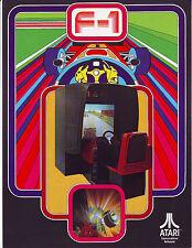 Atari F-1 Original NOS 1976 Vintage Arcade Game 3-D Projection Promo Sales Flyer