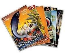 Set of SIX (6) MEXICO 1951 Vintage Reprint Travel Posters 18X24 Veracruz Fishing