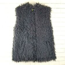 Limeapple Girls Faux Fur Vest Cuddle Bubble Size 14 Gray Lined