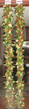NEW WITH TAGS 2pc FULL CELEBRATE IT 6 FOOT LONG FAUX RED BERRY LEAF CHRISTMAS GA