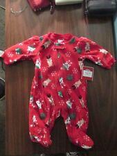 Holiday Time Christmas Reborn zip up Snowman & Santa sleeper Nwt Newborn