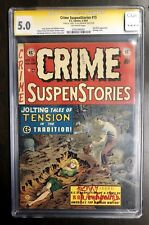 Crime Suspenstories CGC SS Ray Bradbury Signed Fahrenheit 451 Tales EC  Bondage