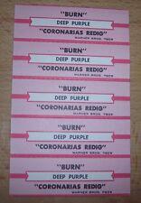 "5 Deep Purple Burn / Coronarias Redig Jukebox Title Strip  7"" 45RPM Records"
