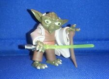 Star Wars Jedi Master Yoda The Clone Wars TCW figure loose lightsaber
