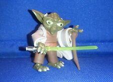 Star Wars Jedi Master Yoda The Clone Wars TCW figure loose lightsaber