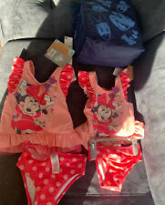 Twin Disney Mini Mouse 2 Piece  Swimmimg Costumes-New With Tags. Age 3