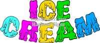 (Choose Your Size + Color) Ice Cream Letters DECAL Food Truck Concession Sticker