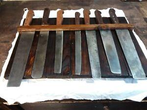 Collezione vecchie coltelline cucina contadina con marchio fabbricante