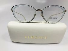 29b6dbaf3a8cb New Versace MOD 1244 1405 Transparent Soft Blue   Gold Eyeglasses 53mm  w Case