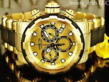Invicta 46mm Specialty Capsule Swiss Chronograph 18K Gold Plated Gold Dial Watch