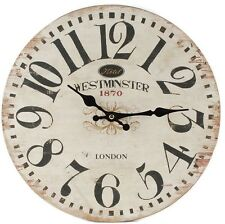 """13"""" Westminster London WALL CLOCK Tuscan BISTRO COUNTRY"""