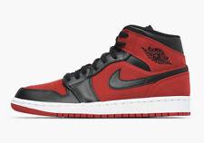 New Men's Air Jordan 1 Mid Retro BRED Shoes (554724-610)  Men US 12 / Eur 46