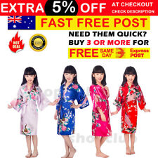 Kids Girls Bath Robe Silk Robe Satin Robe Dreessing Gown Sleepwear Pajamas 8cols