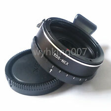 Tripod Built in Aperture Canon EOS EF Lens to SONY NEX E Mount NEX7 NEX5 adapter
