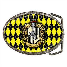 NEW* HOT HARRY POTTER HUFFLEPUFF HOGWARTS SCHOOL Quality Chrome Belt Buckle