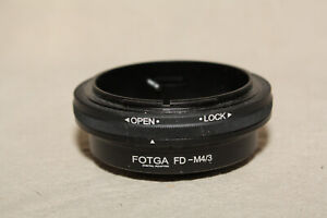FOTGA CANON FD TO MICRO 4/3 m4/3 LENS ADAPTER MNT