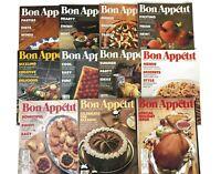 Vintage BON APPETIT 11 MAGAZINE LOT 1986 Holiday Recipe NOVEMBER DECEMBER July
