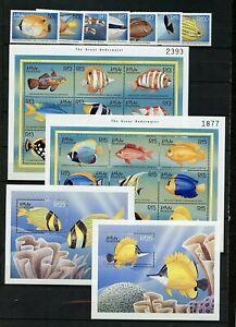Maldive Island #2333//2834 Mozambique #1651//2513 (MA544) Fish Issues, CV$161.25