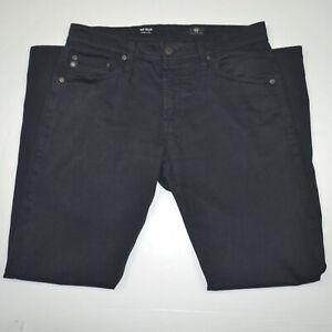 ADRIANO GOLDSCHMIED Tellis Modern Slim Stretch Sueded Black Chino Pants 31 x 30