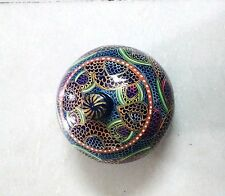 BEAUTIFUL PAPERMACH JEWELLERY/TRINKET/COIN BOX HANDMADE HANDCRAFTED, GIFT