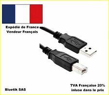 5m mètres CABLE USB Type A-B pr toute imprimante scanner Espon Canon HP Brother