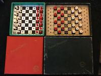 vintage K & C Quality chess / draughts, Travel  Vintage Games