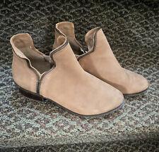 BCBG Womens Leather Booties 6.5 BG-Crushh Tan