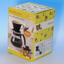 Rilakkuma Coffee Dripper & Heat-resistant glass Pot set  Black Rare kitchenware