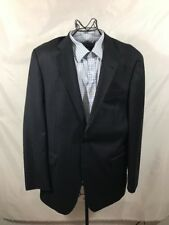 Nautica 40L Navy  Bluepin striped Mens Sport Coat Blazer Suit Jacket