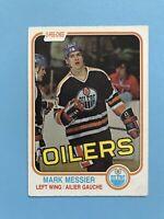 Mark Messier 2nd Year O-Pee-Chee 1981-82 Hockey Card #118 Edmonton Oilers