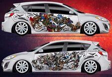 Car Side Full Color Graphics Vinyl Sticker Custom Body Decal Transformers