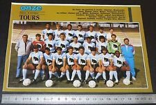 CLIPPING POSTER FOOTBALL 1987-1988 D2 FC TOURS VALLEE-DU-CHER